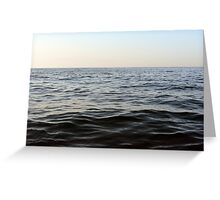 The sea natural background. Greeting Card