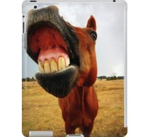 Red the smiling horse iPad Case/Skin