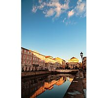 sunset in the city of Trieste Photographic Print