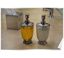 Two soap dispensers. Poster