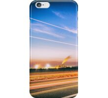 sun goes down behind an industry iPhone Case/Skin