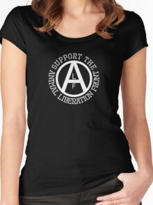 Animal Liberation Front Logo Women's Fitted Scoop T-Shirt