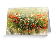 Poppy field, abstract image Greeting Card