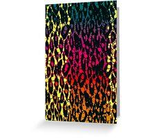 Rainbow Cheetah Abstract Pattern  Greeting Card