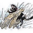 Tasmanian Devil V Crocodile by SnakeArtist