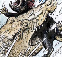 Tasmanian Devil V Crocodile Sticker