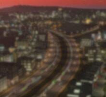 City at Sunset Sticker