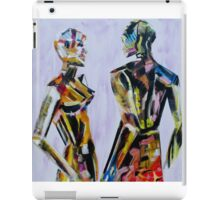 Do you come here often, Painting of mannequin,robotic style models interacting. iPad Case/Skin