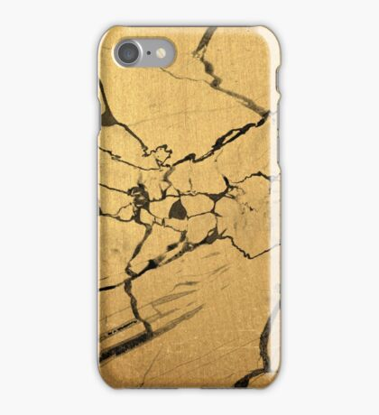 Black & Gold Marble iPhone Case/Skin