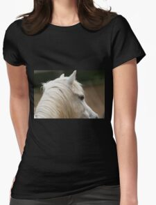horse in the farm Womens Fitted T-Shirt