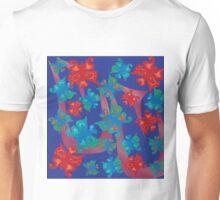 Butterflies Galore on Royal Blue Unisex T-Shirt