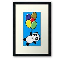Pandas! Balloons! Framed Print