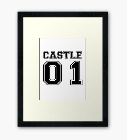 Castle 01 - Varsity Style Framed Print