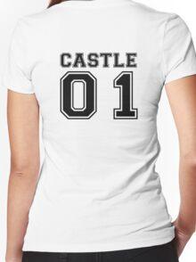 Castle 01 - Varsity Style Women's Fitted V-Neck T-Shirt