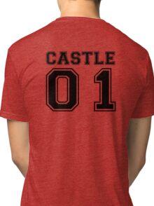Castle 01 - Varsity Style Tri-blend T-Shirt