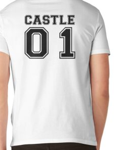 Castle 01 - Varsity Style Mens V-Neck T-Shirt