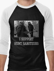 I support Hunt Saboteurs Men's Baseball ¾ T-Shirt