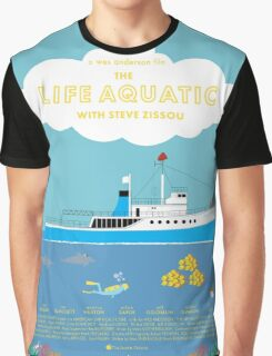 The Life Aquatic with Steve Zissou Poster Graphic T-Shirt