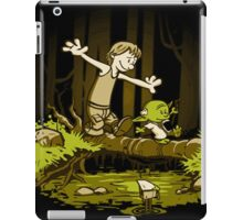 luke and yoda calvin and hobbes iPad Case/Skin