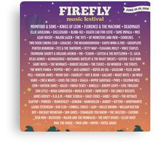 Firefly Music Festival   June 16-19, 2016 LINE UP Canvas Print