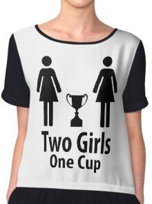 Two Girls One Cup - Parody Chiffon Top