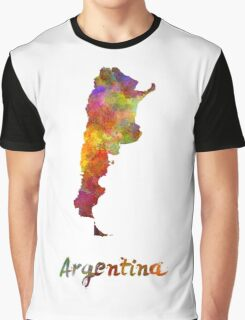 Argentina  in watercolor Graphic T-Shirt