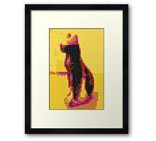 Pixel cat  Framed Print