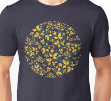 Blue Flowers & Paisley Leaves Unisex T-Shirt