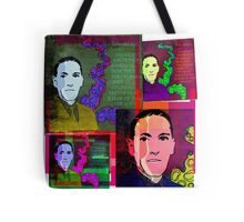 HP LOVECRAFT, AMERICAN GOTHIC WRITER, COLLAGE Tote Bag