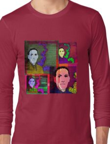 HP LOVECRAFT, AMERICAN GOTHIC WRITER, COLLAGE Long Sleeve T-Shirt
