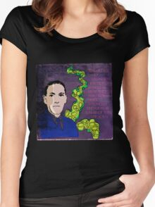 HP LOVECRAFT, AMERICAN GOTHIC WRITER Women's Fitted Scoop T-Shirt