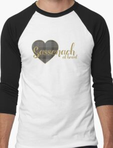 Sassenach at Heart Men's Baseball ¾ T-Shirt