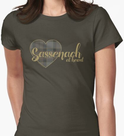 Sassenach at Heart Womens Fitted T-Shirt