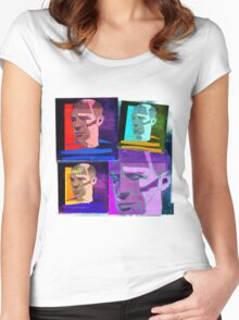 PABLO PICASSO COLLAGE - SPANISH CUBIST PAINTER Women's Fitted Scoop T-Shirt