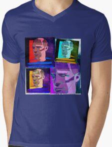 PABLO PICASSO COLLAGE - SPANISH CUBIST PAINTER Mens V-Neck T-Shirt