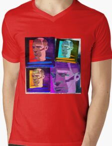 PABLO PICASSO COLLAGE - SPANISH CUBIST PAINTER Mens V-Neck T-Shirt