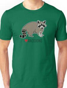 I Love Raccoons Unisex T-Shirt