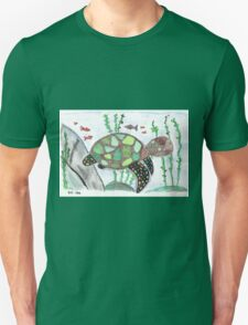 Turtle animal watercolor art Unisex T-Shirt