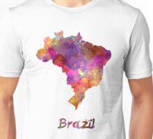 Brazil in watercolor Unisex T-Shirt