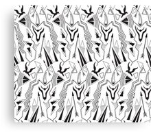 Tribal abstract antique minimal seamless pattern Canvas Print