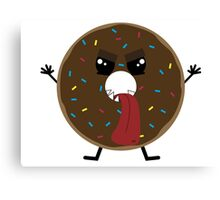 Scary Tasty Donut Canvas Print