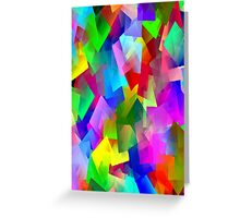 Patches Of Colour Greeting Card