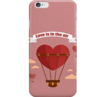 Happy Valentine's Day Greeting Cards. Air Baloon, Present with Love, Cupcake and Whale.  iPhone Case/Skin