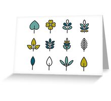 Leaves collection Greeting Card