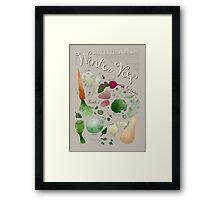 Winter Vegetables Framed Print
