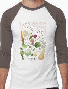 Winter Vegetables Men's Baseball ¾ T-Shirt