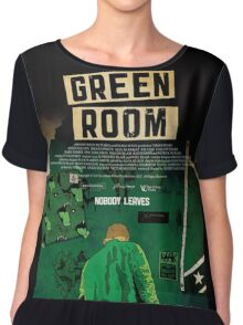 Green Room The Movie 2016 Chiffon Top