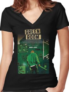 Green Room The Movie 2016 Women's Fitted V-Neck T-Shirt