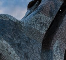 Capricious Trencadis Mosaics – Antoni Gaudi's Quirky Chimneys at Casa Batllo in Barcelona Sticker