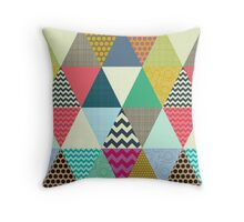 New York Beauty triangles Throw Pillow